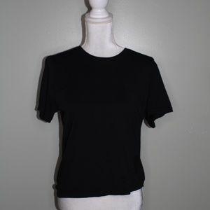 everlane women black cotton  T-shirt SZ S